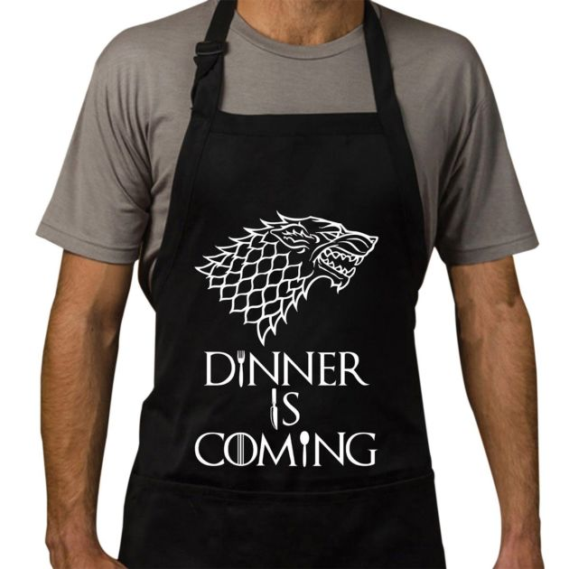 "4fa83868 Sticking with dinner, you could gift your dad with this ""Dinner is Coming""  Game of Thrones cutting board…"
