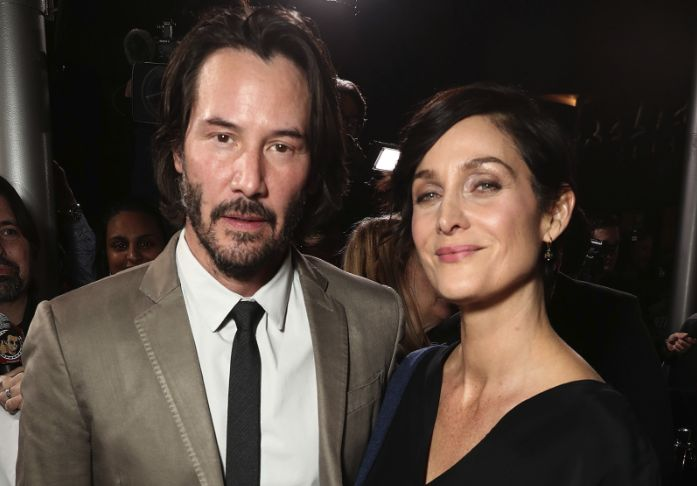 Keanu Reeves and Carrie-Anne Moss back in action on The Matrix 4 set