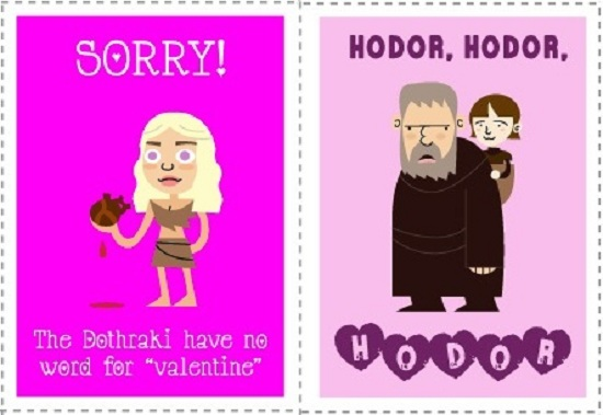 happy valentines day game of thrones style