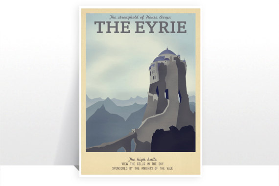 The Eyrie Game Of Thrones Vintage Art From Teacup Piranha