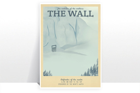 The Wall Game Of Thrones Vintage Art From Teacup Piranha