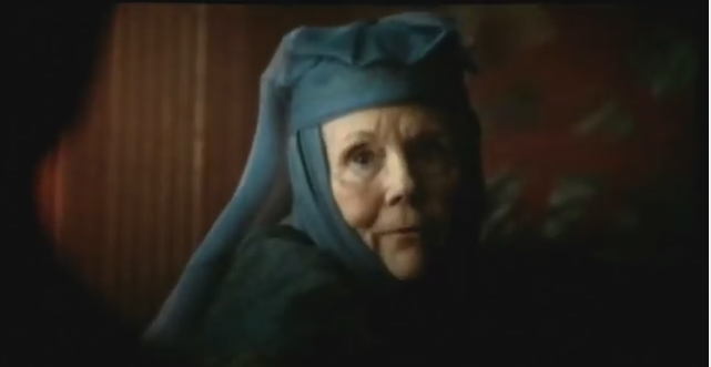 Diana Rigg offers clues about Season 5 scene