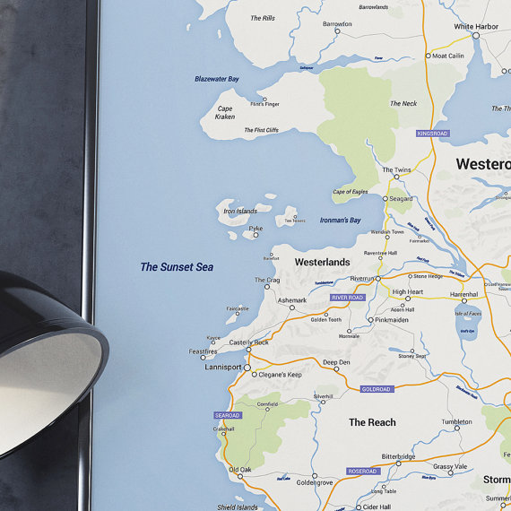 Google Map of Westeros