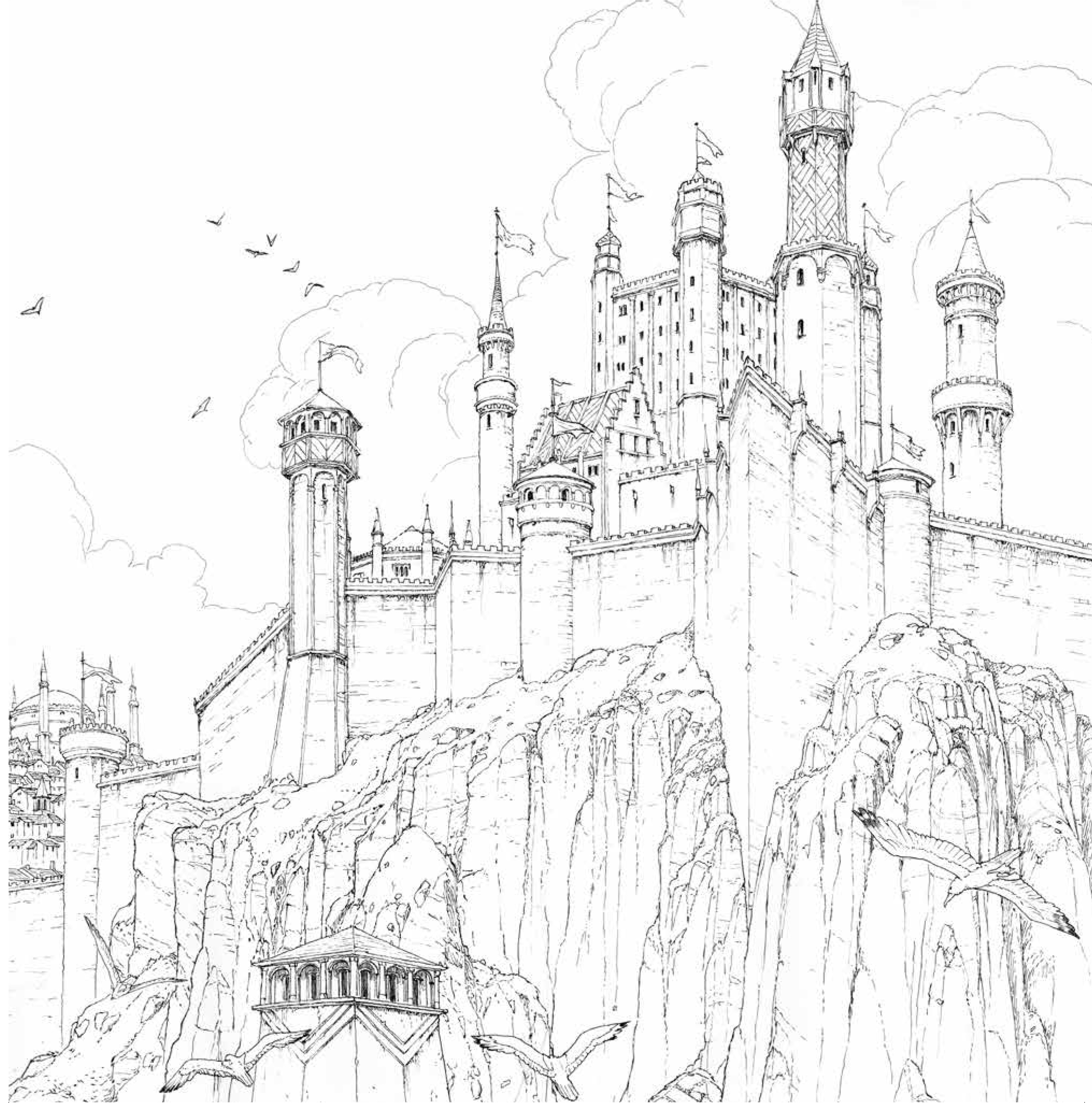 Colouring book - Game Of Thrones Coloring Book 3