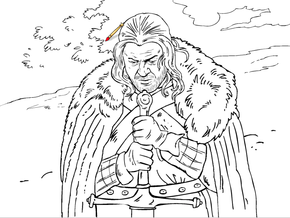 A sneak peak at the Game of Thrones coloring book Winter is Coming