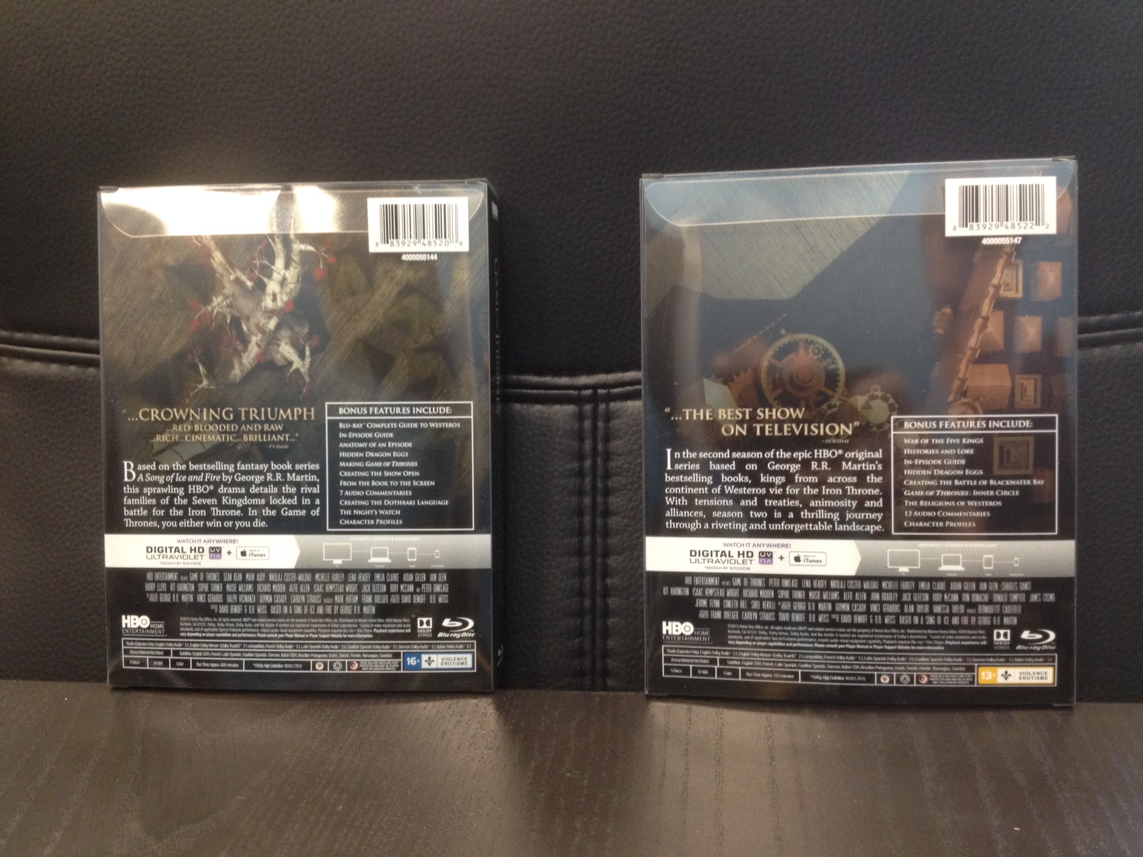 See Hbos New Editions Of Game Of Thrones Seasons 1 And 2