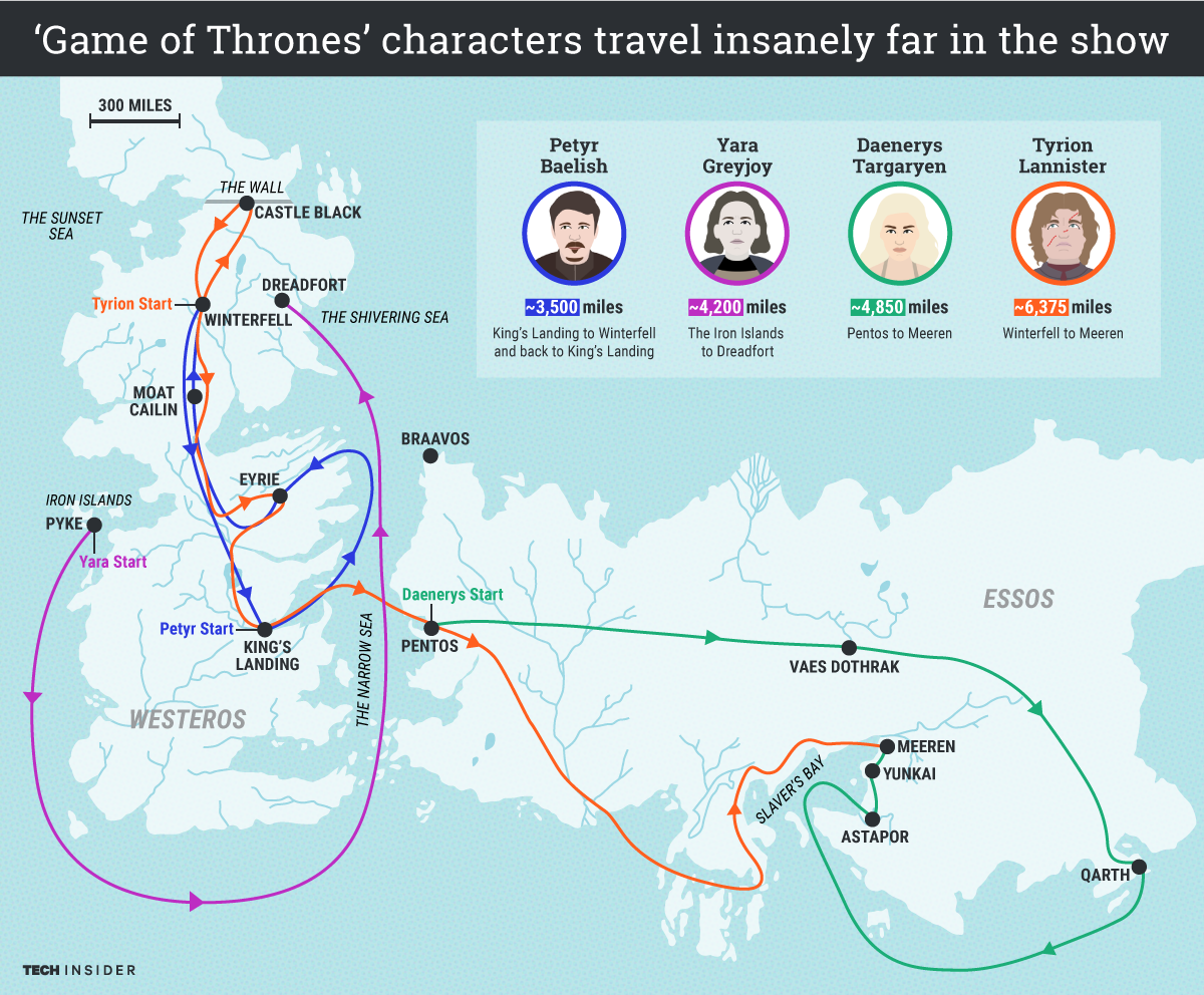 tigraphicsgotmapsfullmap. map shows vast distances game of thrones characters travel