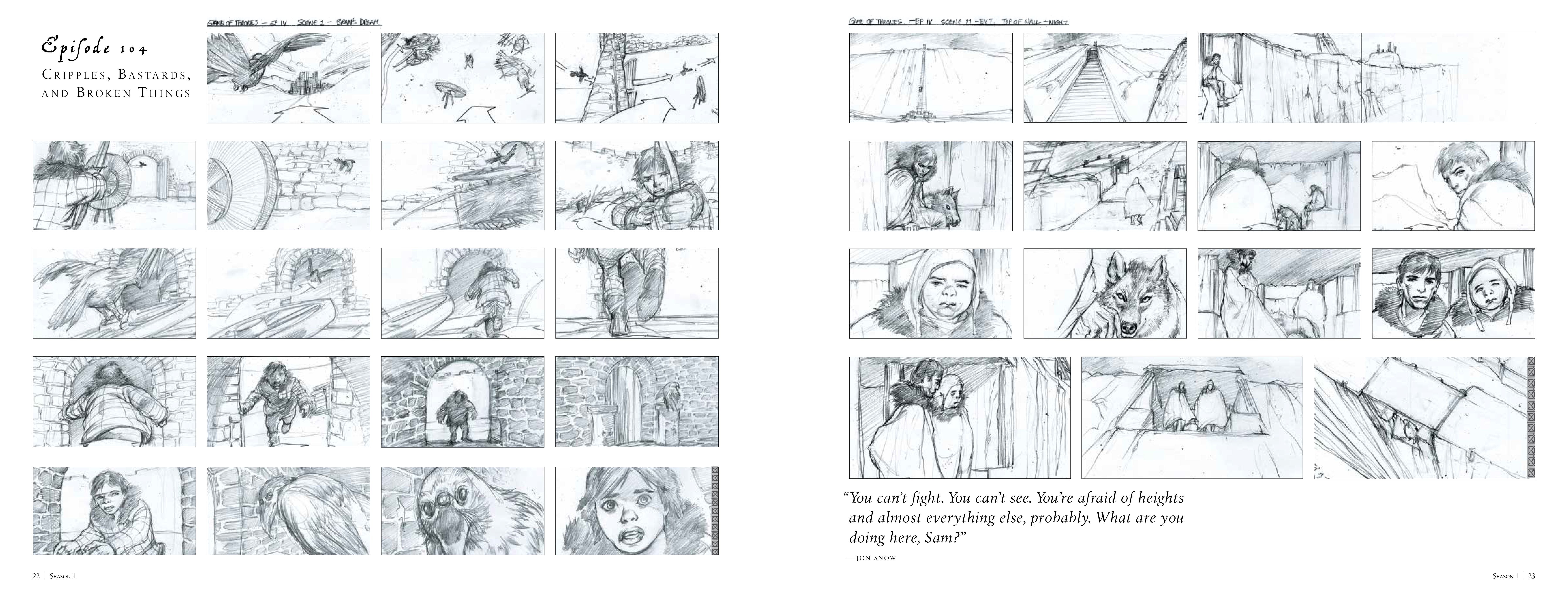 New artwork from Game of Thrones: The Storyboard